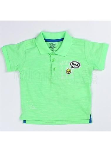 Losan Losan Erkek Bebek Polo Yaka Neon TiŞört Yeşil